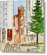 San Francisco - California Sketchbook Project Metal Print