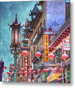 San Francisco Chinatown Metal Print