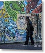 San Francisco Chinatown Street Art Metal Print