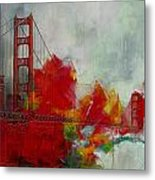 San Francisco City Collage Metal Print