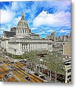 San Francisco City Hall 5d22507 Photoart Metal Print