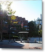San Francisco Coit Tower At Levis Plaza 5d26189 Metal Print by Wingsdomain Art and Photography