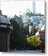 San Francisco Coit Tower At Levis Plaza 5d26212 Metal Print by Wingsdomain Art and Photography