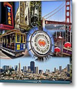 San Francisco Collage Metal Print