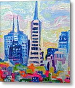 San Francisco Colors Metal Print