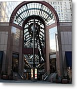 San Francisco Crocker Galleria - 5d20599 Metal Print by Wingsdomain Art and Photography