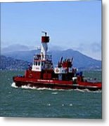San Francisco Fire Department Fire Boat Metal Print