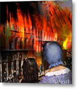 San Francisco Fire Metal Print