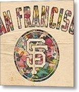 San Francisco Giants Logo Vintage Metal Print