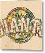 San Francisco Giants Poster Art Metal Print