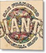 San Francisco Giants Poster Vintage Metal Print