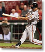 San Francisco Giants V Cincinnati Reds Metal Print