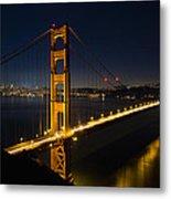 San Francisco Golden Gate Bridge At Blue Hour Metal Print