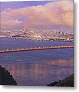 San Francisco Golden Gate Bridge At Dusk Metal Print