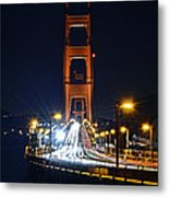 San Francisco - Golden Gate Bridge From North Vista Point Metal Print