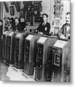 San Francisco Kinetoscope Metal Print
