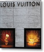 San Francisco Louis Vuitton Storefront - 5d20546-2 Metal Print by Wingsdomain Art and Photography