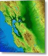 San Francisco Map Art Metal Print