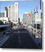 San Francisco Moscone Center And Skyline - 5d20513 Metal Print by Wingsdomain Art and Photography