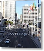 San Francisco Moscone Center And Skyline - 5d20515 Metal Print by Wingsdomain Art and Photography