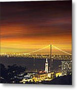 San Francisco Oakland Bay Bridge At Sunset Metal Print