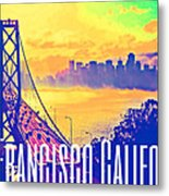 San Francisco Postcard Metal Print
