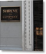 San Francisco Shreve Storefront - 5d20579 Metal Print by Wingsdomain Art and Photography