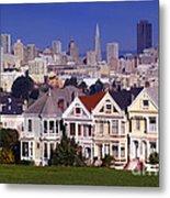 San Francisco Skyline From Alamo Square Metal Print