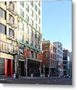 San Francisco Stockton Street At Union Square - 5d20564 Metal Print by Wingsdomain Art and Photography