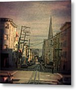San Francisco Street Metal Print