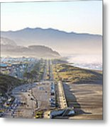 San Francisco Morning - The Great Highway Ocean Beach Metal Print