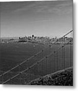 San Francisco Through The Golden Gate Bridge Metal Print by Twenty Two North Photography