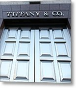 San Francisco Tiffany And Company Store Doors - 5d20562 Metal Print by Wingsdomain Art and Photography