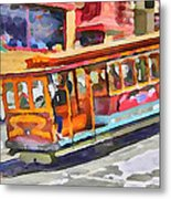 San Francisco Trams 5 Metal Print by Yury Malkov