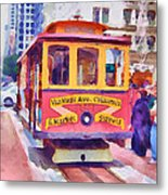 San Francisco Trams 7 Metal Print