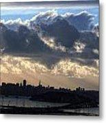 San Francisco Under Fogbank At Sunset Metal Print