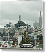San Francisco View From Fishermans Wharf Metal Print