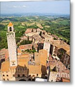 San Gimignano From The Top Of A Tower Metal Print