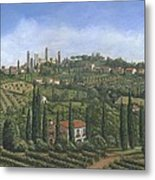 San Gimignano Tuscany Metal Print by Richard Harpum