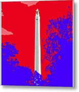 San Jacinto Monument Red White Blue Metal Print