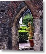 San Jose Mission View To The Past Metal Print