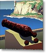 San Juan National Historic Site Vintage Poster Metal Print