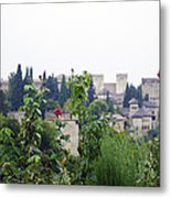 San Nicolas View Of The Alhambra On A Rainy Day - Granada - Spain - Spain Metal Print