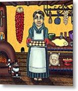 San Pascual Making Biscochitos Metal Print