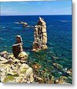 San Pietro Island - Le Colonne Cliff Metal Print