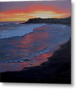 San Simeon Sunset Metal Print