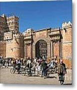 Sanaa City In Yemen  Metal Print
