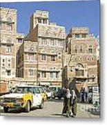 Sanaa Old Town In Yemen Metal Print
