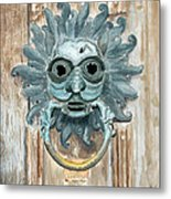 Sanctuary Knocker Metal Print