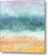 Sand And Sea Metal Print